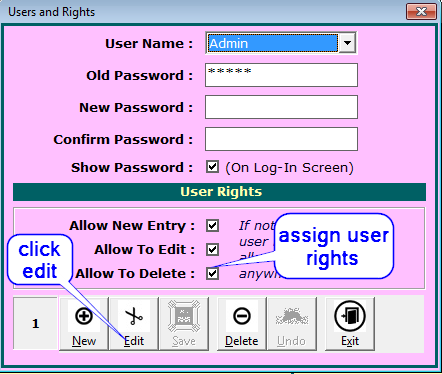 Assign User Rights